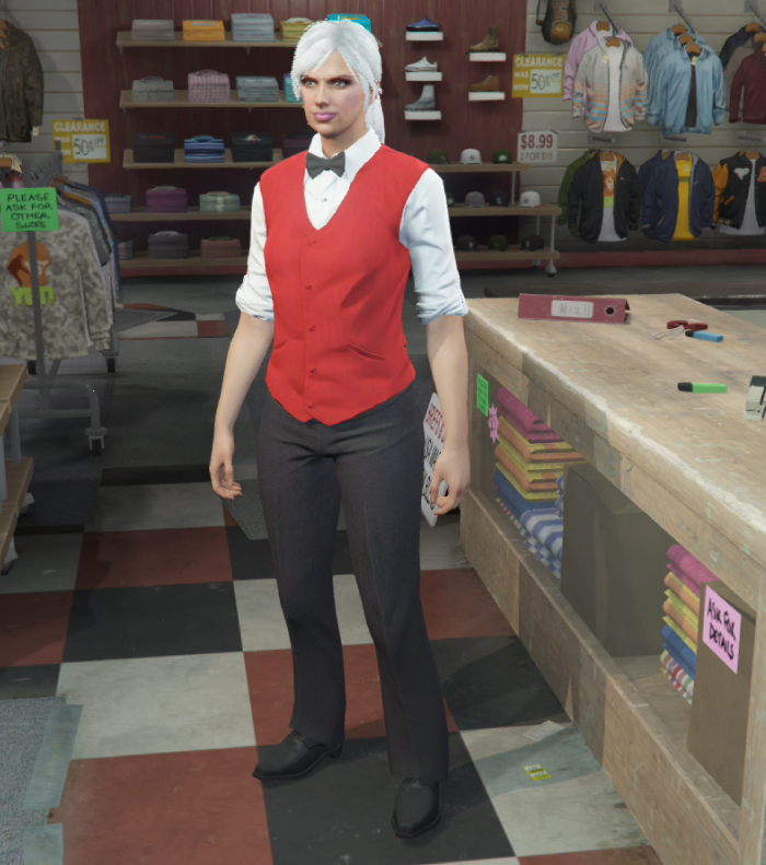 GTA5カジノ強盗(駐車係の制服)