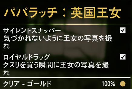 GTA5不審者と変質者『パパラッチ:英国王女』ゴールド条件